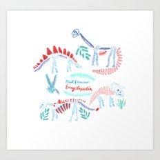 Plant and dinosaur  encyclopedia Art Print