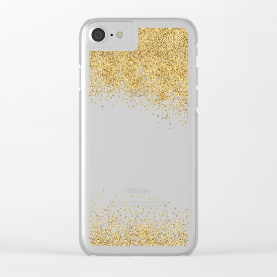 Sparkling golden glitter confetti effect II #Society6 Clear iPhone Case
