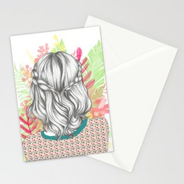 Lovely hair Stationery Cards
