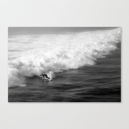 Lone Surfer in Black and White Canvas Print