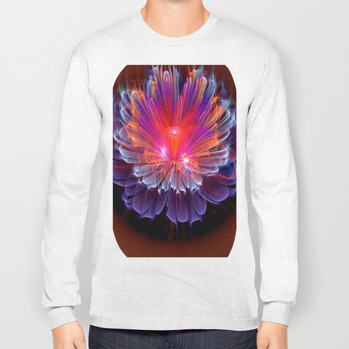 Neon Flower - A Vision all Aglow Long Sleeve T-shirt