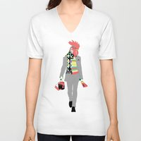 rooster V-neck T-shirts featuring Rooster by Nathalie Otter
