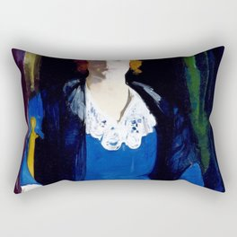 George Wesley Bellows - Portrait Of Florence Pierce - Digital Remastered Edition Rectangular Pillow