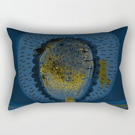 Tree Cactus in a Blue Desert Rectangular Pillow