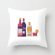 Negroni Throw Pillow
