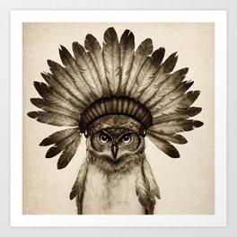 Owl Cheif Art Print
