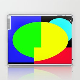 GETTING IN SHAPE - FUN SHAPED GEOMETRIC MULTI COLOURED DESIGN Laptop & iPad Skin