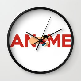 Anime Manga Inspired Shirt Wall Clock