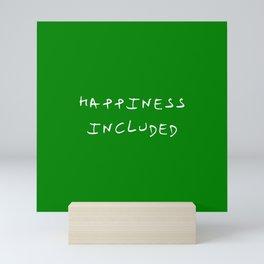 happiness included 1 green Mini Art Print