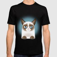 Nope (Grumpy Cat) LARGE Mens Fitted Tee Black