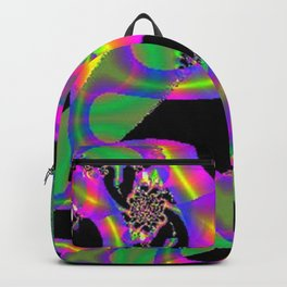 Psychedelic Fluro Yellow, Pink and Green Fractal Design Backpack
