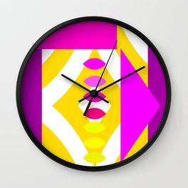 minimalist in gold Wall Clock