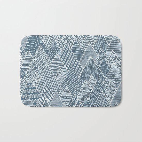 Mountain Pattern Bath Mat