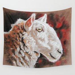 """Pastel Drawing """"Sheepish Grin"""" Wall Tapestry"""