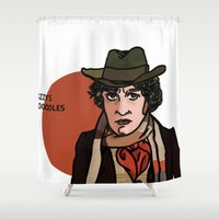 david tennant Shower Curtains featuring David Tennant by Izzy King