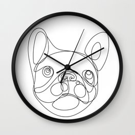 Chaca the Frenchie Wall Clock