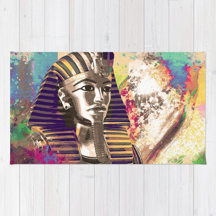 King Tut  Mask Abstract composition Rug