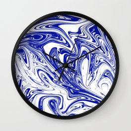 Marble,liquified graphic effect decor Wall Clock