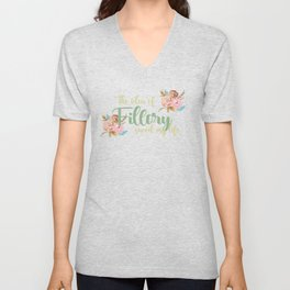 Idea of Fillory (With Flowers) Unisex V-Neck