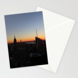 Downtown New York City Skyscrapers during Sunset in Winter Stationery Cards