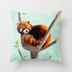 Red Panda Throw Pillow