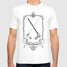 The Force! White Mens Fitted Tee MEDIUM