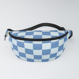 Checked Aegean Blue Fanny Pack