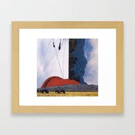 last chance to evacuate earth Framed Art Print