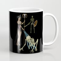 skeleton Mugs featuring Skeleton by Egberto Fuentes