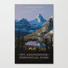 Mt. Assiniboine Provincial Park Canvas Print
