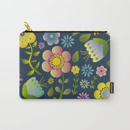 Petty Floral Pattern 1 Carry-All Pouch