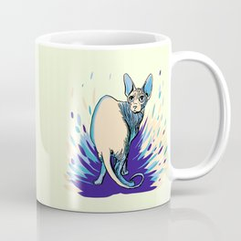 Sphynx Cat - Blue Purple Vanilla - Cat Lover Coffee Mug