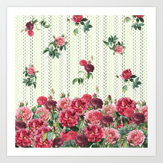 Rose Rain Art Print