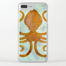 Inky Slinky Octopus Clear iPhone Case