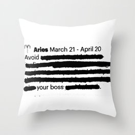 Aries 1 Throw Pillow