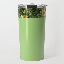 Flowers in Apple Green Cover Travel Mug