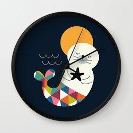 Seals Mermaid Wall Clock