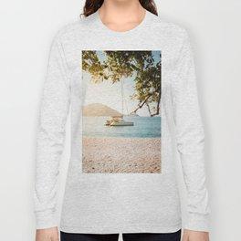 Fitzroy Island Catamaran | Cairns Australia Tropical Beach Sunset Photography Long Sleeve T-shirt