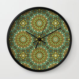 Alhambra Double Star Pattern Wall Clock