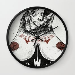 Fishtits Wall Clock