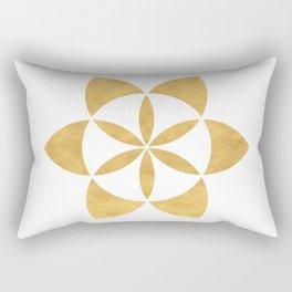 SEED OF LIFE minimal sacred geometry Rectangular Pillow