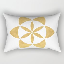 SEED OF LIFE minimal sacred geometry Rectangular Pillow