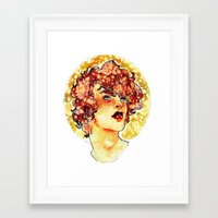 enjolras Framed Art Prints featuring enjolras watercolour by chazstity