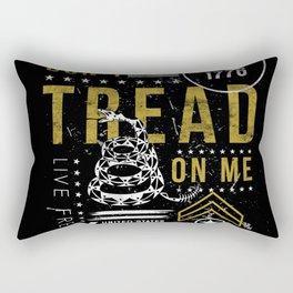 Gadsden Flag Don't Tread on Me Revolution USA Military Rattlesnake Flag Grunge Distress Rectangular Pillow