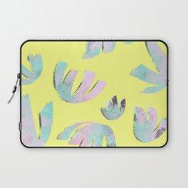 flora pattern no.1 / bright yellow Laptop Sleeve