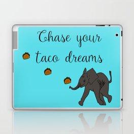 Baby Elephant Chase Your Taco Dreams! Laptop & iPad Skin