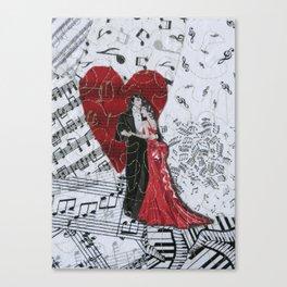 Romantic Ballroom Dancers Canvas Print