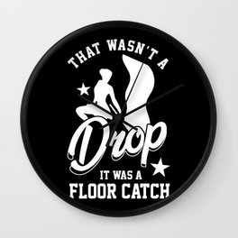 Color Winter Guard Wasn't A Drop It Was A Floor Catch Flag Wall Clock
