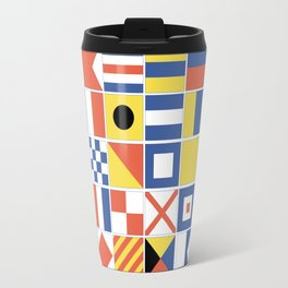 Nautical Flags Travel Mug