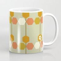 hexagon Mugs featuring Hexagon by clare nicolson
